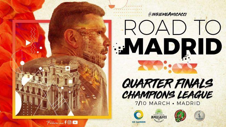 Basket in carrozzina, Amicacci a Madrid per la Champions League