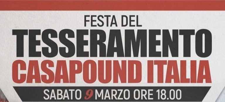 Sant'Egidio, festa del tesseramento per CasaPound
