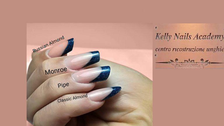 Mettiti nelle mani di KELLY NAILS per la Ricostruzioni delle Unghie Le forme: Classic Almond, Pipe, Monroe, Russian Almond