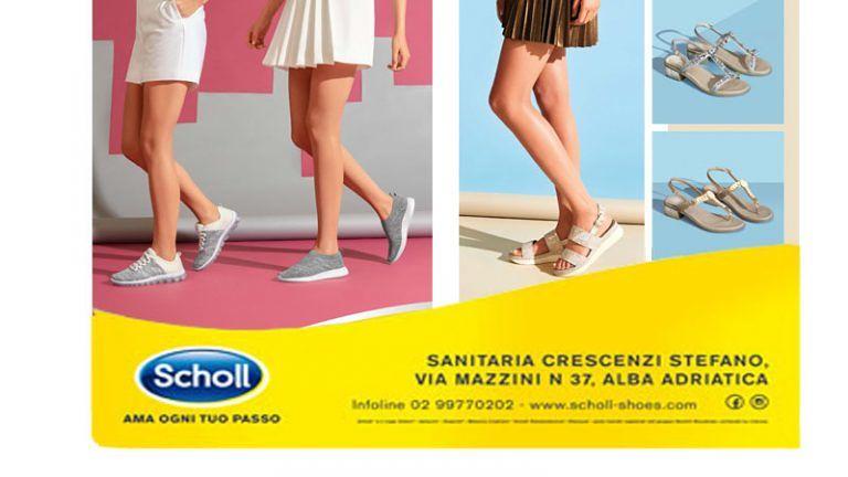 SANITARA CRESCENZI Alba A. Riv ufficiale calzature Scholl, disponibili i nuovi modelli Primavera Estate