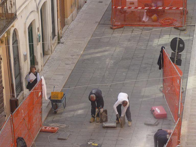 Giulianova, un tratto di Corso Garibaldi chiuso al traffico per lavori