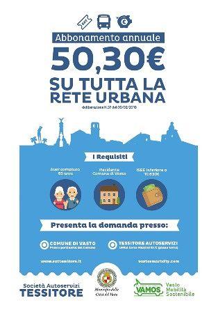 Vasto, abbonamento bus annuale agevolato per gli over 65 con ISEE inferiore a 10.630  euro