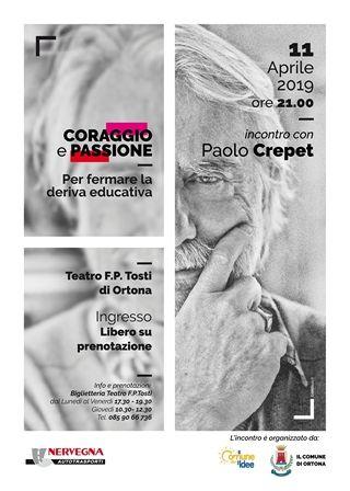 Paolo Crepet a Ortona per parlare di deriva educativa