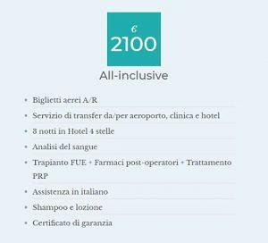 Approfitta dei pacchetti All Inclusive di MG BEAUTY SERVICES Ag. Specialisti nel 'Trapianto Capelli'