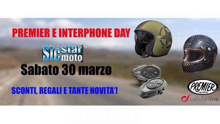 Sabato 30 marzo SICSTAR MOTO Alba Adriatica Primo open-day 'Interphonecellulare line e Caschi premier2019'