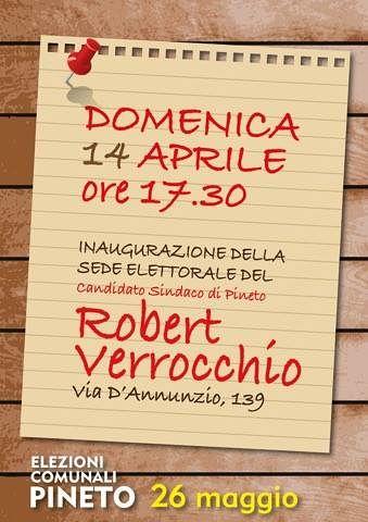 Pineto, elezioni comunali: Robert Verrocchio inaugura la sede elettorale