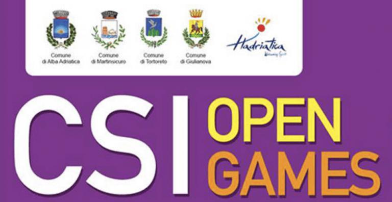 CSI Open Games: dal 31 maggio al 2 giugno costa teramana protagonista