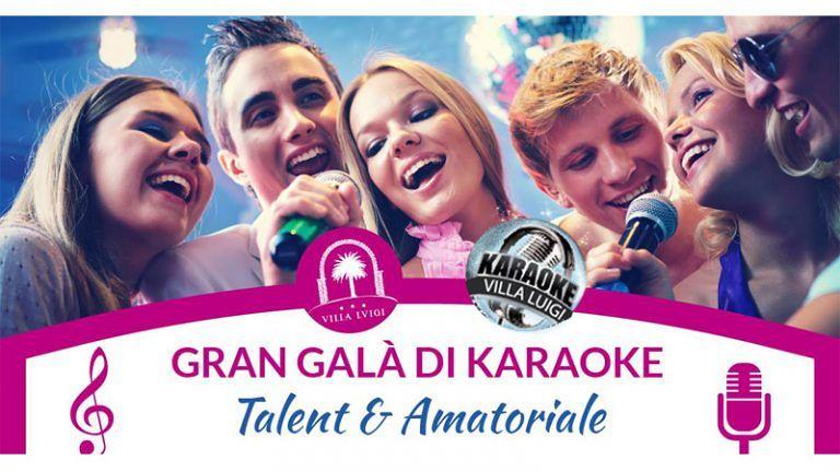 GRAN GALA' DI KARAOKE, Cena e Gara a Categorie 'Amatori & Talents' Venerdì 26 aprile a VILLA LUIGI