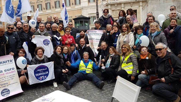 Il Popolo della famiglia Abruzzo a Roma per il reddito di maternità