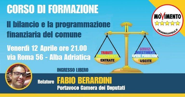 Alba Adriatica, formazione a 5 Stelle: Berardini parla di bilancio e piano finanziario del Comune
