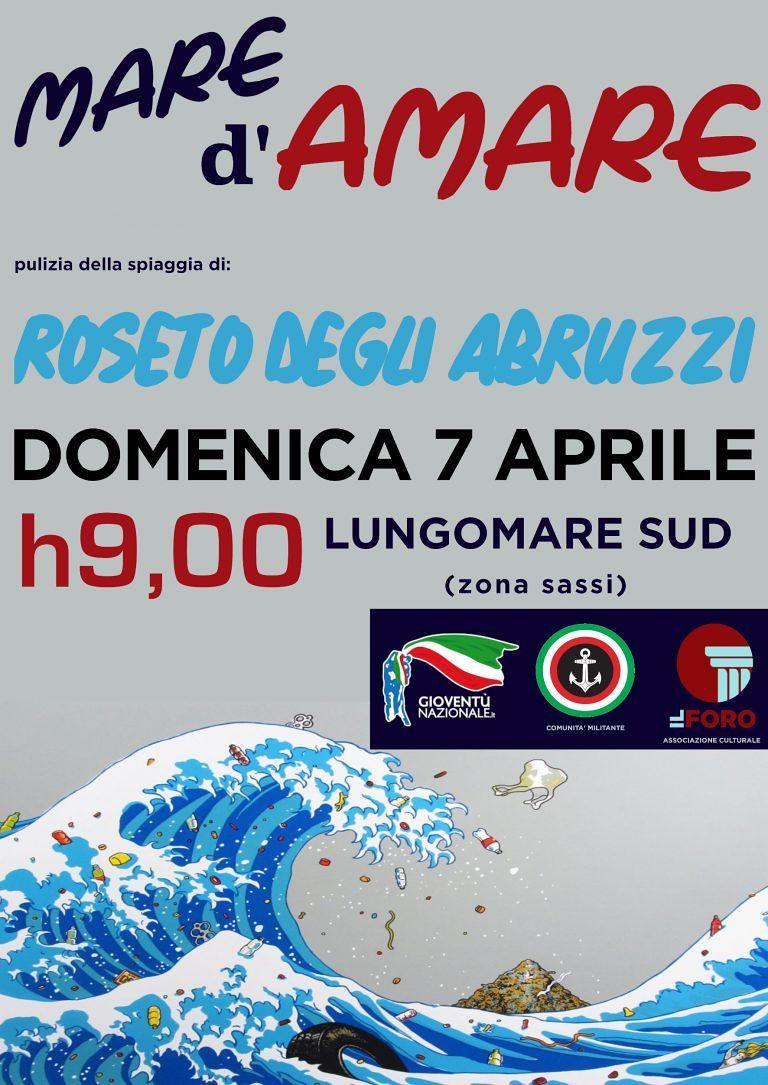 Roseto, 'Mare d'Amare': pulizia del Lungomare Trieste