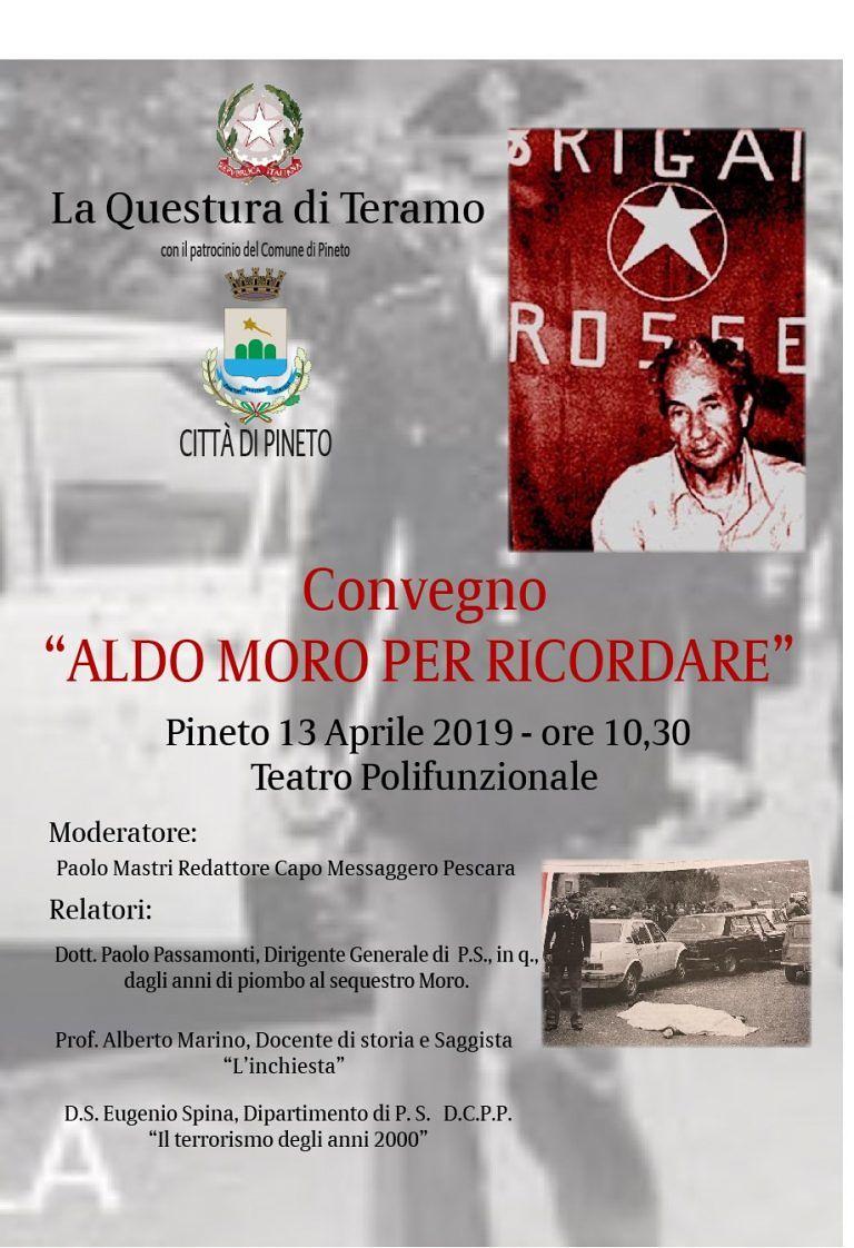Pineto, convegno della Questura di Teramo su Aldo Moro