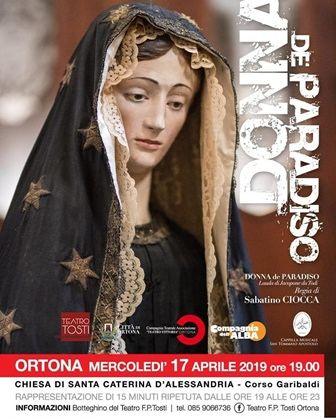 Ortona, 'Donna de Paradiso' alla chiesa di santa Caterina