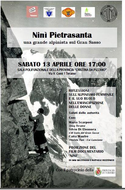 Teramo, un incontro per ricordare Ninì Pietrasanta: alpinista che ha scalato l'Appennino