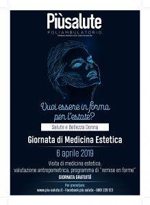 GIORNATA GRATUITA 'medicina estetica' sabato 6 aprile PIU'SALALUTE poliambulatorio Alba Adriatica (TE)