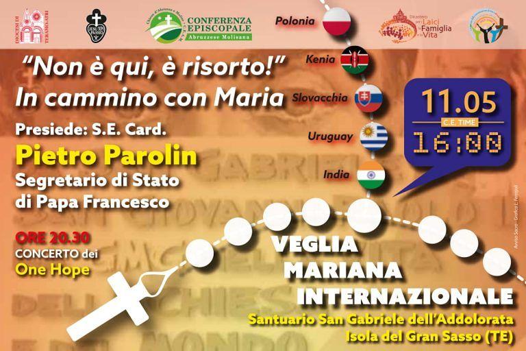 Al Santuario di San Gabriele, la veglia mariana internazionale dei giovani PROGRAMMA