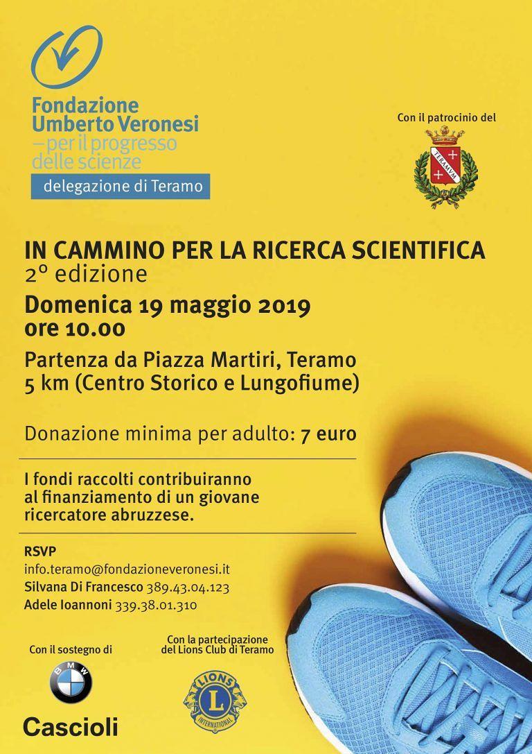 """Torna a Teramo """"In cammino per la ricerca scientifica"""" della Fondazione Veronesi"""