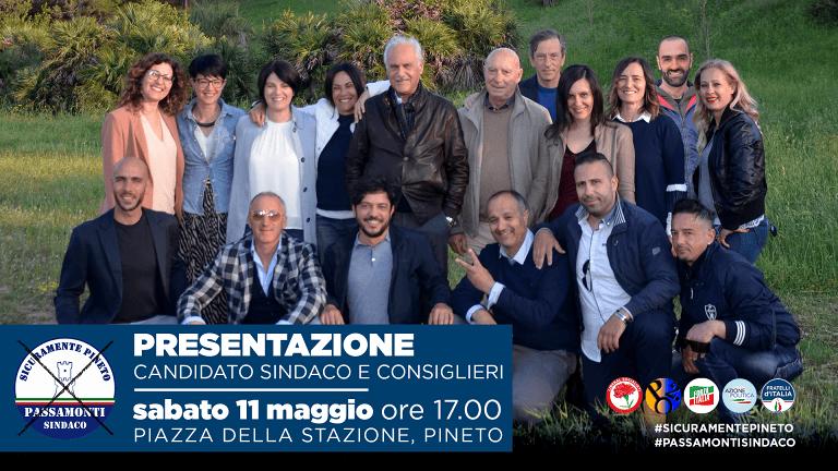 Elezioni Pineto: il candidato Sindaco Passamonti presenta la lista