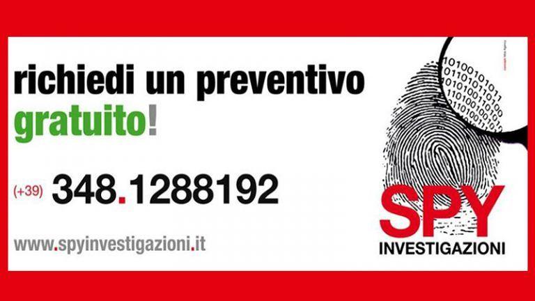 SPY INVESTIGAZIONI Metodo e professionalità per ogni esigenza Operativa su tutto il territorio nazionale!