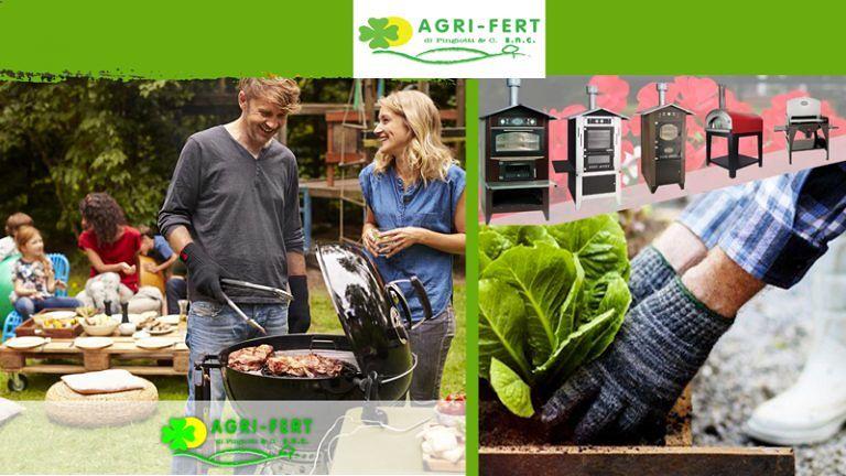 Da AGRI-FERT Pingiotti & CO si celebra la vita in esterno! Forni a legna, Barbecue e tutto per l'Orto!
