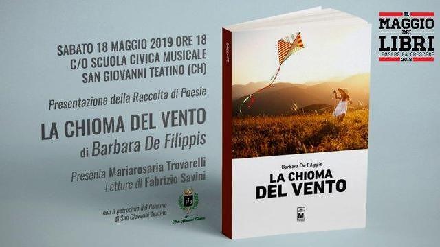 San Giovanni Teatino, Barbara De Filippis presenta 'La chioma del vento'