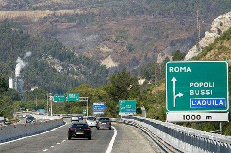 Bussi/Popoli: svincolo autostradale chiuso per 40 giorni