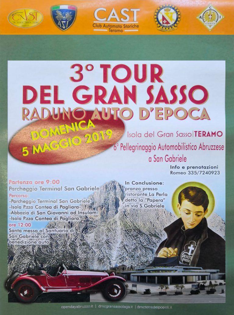 Teramo, domenica la terza edizione del 'Tour del Gran Sasso' per il Club Automoto storiche