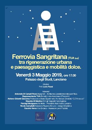'Ferrovia Sangritana (TUA Spa) tra rigenerazione urbana e paesaggistica e mobilità dolce', convegno a Lanciano