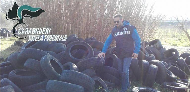 Discarica di pneumatici a Montesilvano: controlli e multe in tutto il pescarese