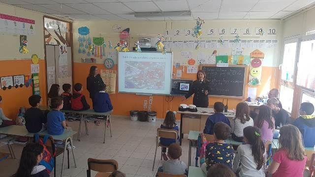 San Salvo, i bambini della primaria di via Verdi a scuola con la Polizia Locale