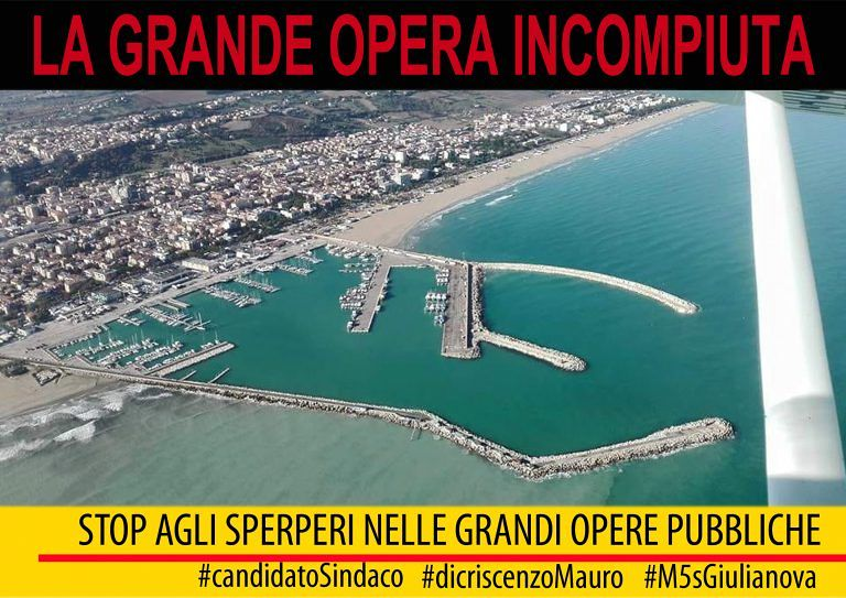 Giulianova, M5S: 'completare il nuovo braccio del porto'