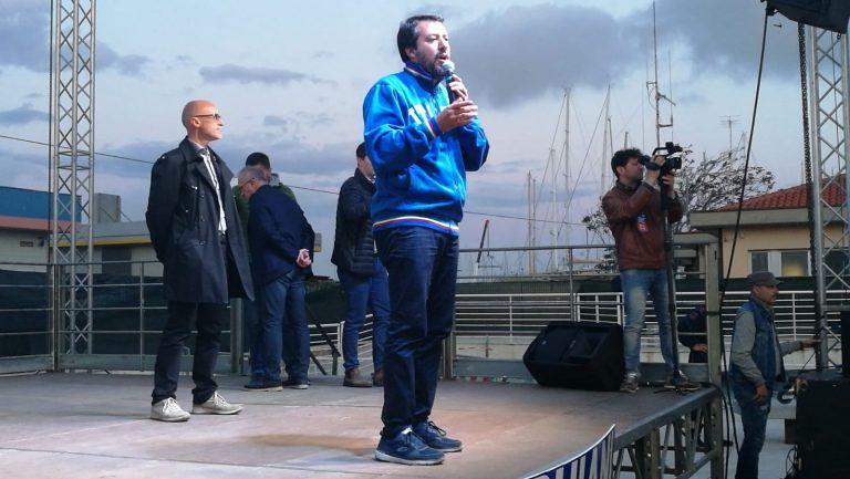 """Salvini a Giulianova: """"C'è bisogno di cambiamento"""" FOTO/VIDEO"""