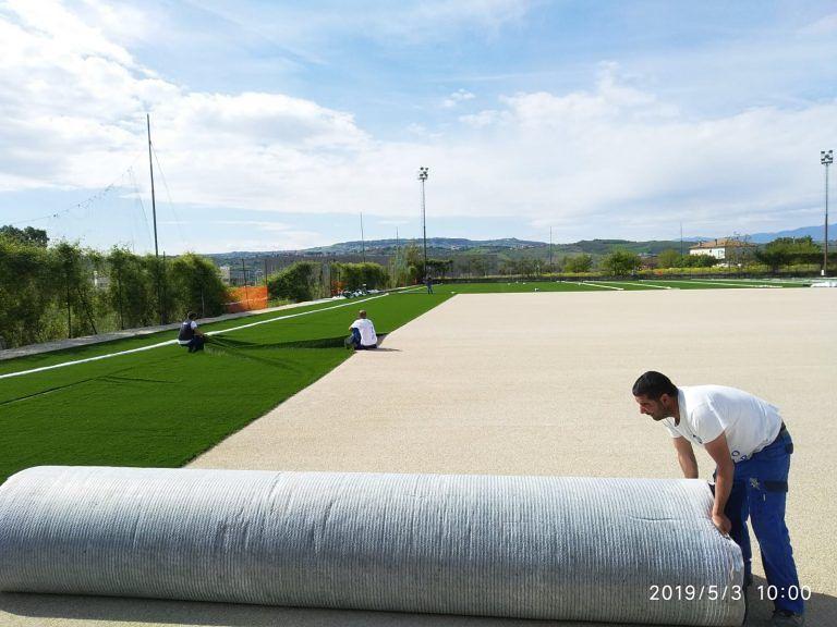 Roseto, lavori Campo Sportivo Santa Lucia: tutto pronto per il prossimo campionato