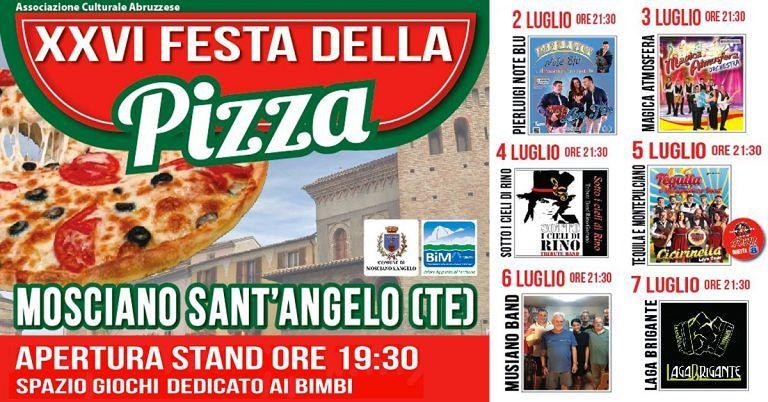 Mosciano, al via le manifestazione estive: tornano Pizza e Festa dell'Uva. Concerto dei Modena City Ramblers