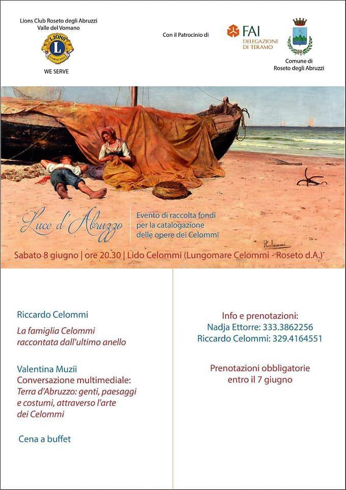 Roseto, 'Luce d'Abruzzo': evento del Lions Club per la presentazione della catalogazione delle opere dei Celommi