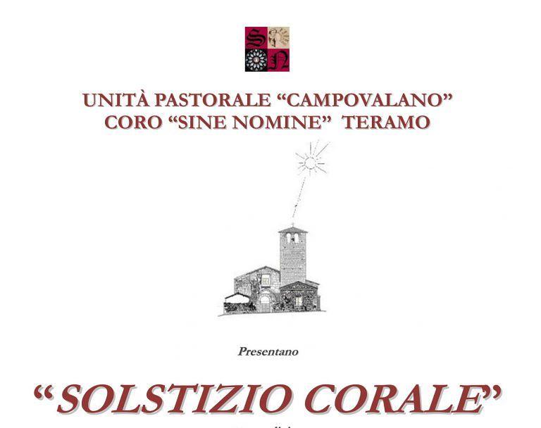 """Campovalano, torna l'ottava edizione del """"Solstizio corale"""""""
