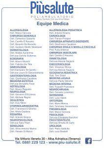 Piùsalute, il poliambulatorio con più di 40 specialisti a disposizione per qualsiasi esigenza!