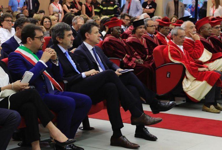 """Conte a Teramo: """"Abbiamo fatto molto per la ricostruzione, vogliamo fare ancora di più"""" FOTO VIDEO"""