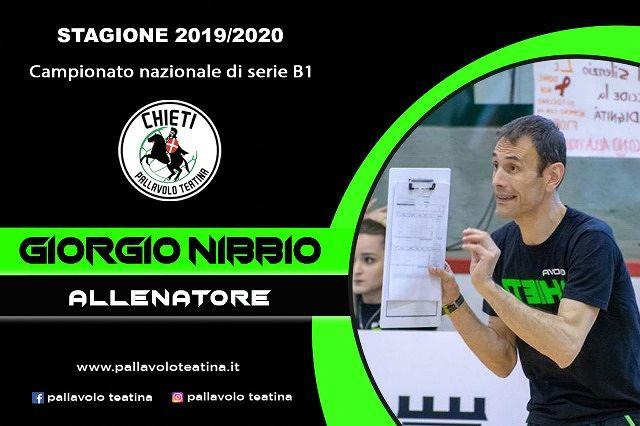 Giorgio Nibbio sarà l'allenatore della Pallavolo Teatina anche per la prossima stagione sportiva
