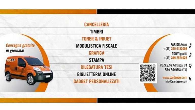 CARTOLERIA CARTA & CO Via Adriatica, 74 Alba Adriatica Servizi di Stampe e Gadgets personalizzati!