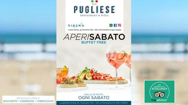 APERI SABATO Dal PUGLIESE LIDO SIERENA Tortoreto Lido RISTORENATE di Pesce Pizzeria Eccellenza TRIPADVISOR 2019