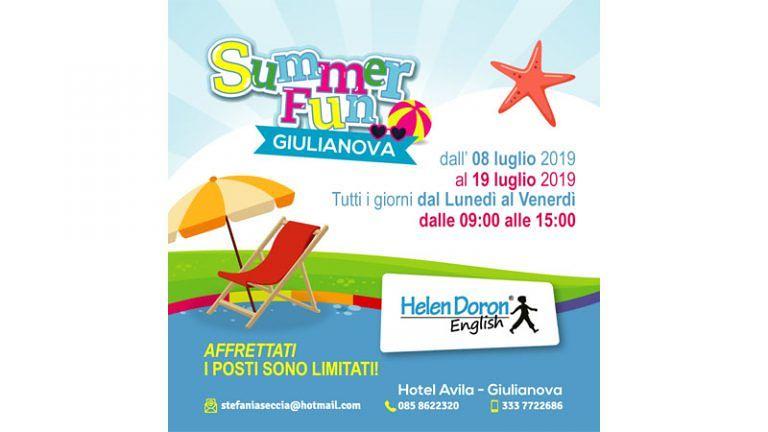 """HELEN DORON SUMMER FUN CAMP 8-12 / 15-19 Luglio """"Un immersione nella lingua Inglese"""""""