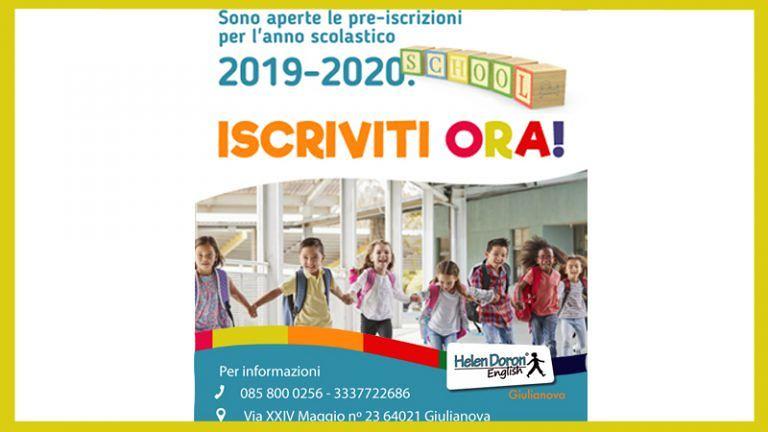 Aperte le PRE-ISCRIZIONI per i corsi di inglese della HELEN DORON di Giulianova IMPORTANTI VANTAGGI!