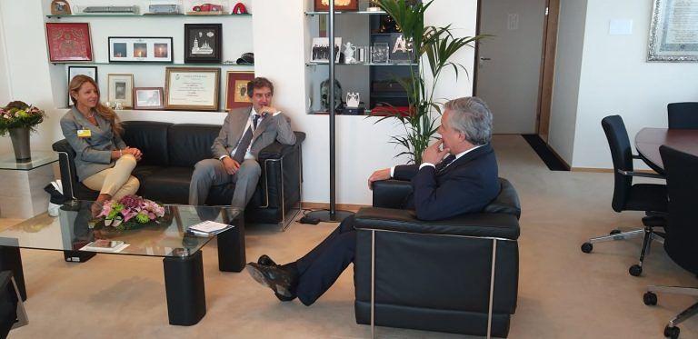 Bruxelles, Marsilio incontra il Presidente Tajani