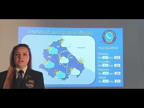 Meteo D'Annunzio: le previsioni del tempo per il fine settimana VIDEO