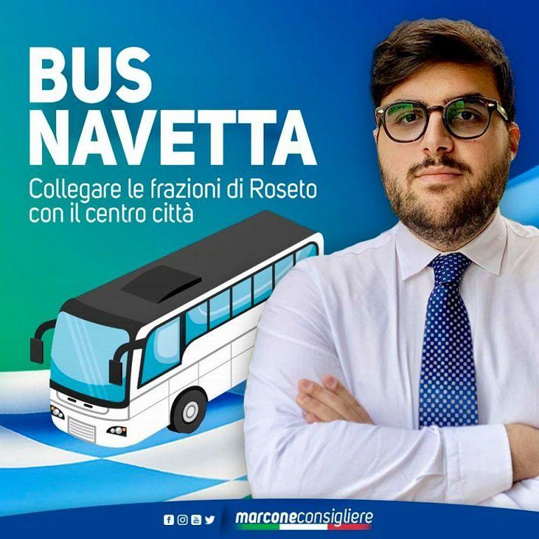 Roseto, Marcone attacca: 'ancora non attivato il bus-navetta'