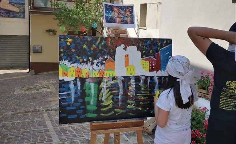 Atri, estemporanea di pittura nel museo all'aperto di Casoli