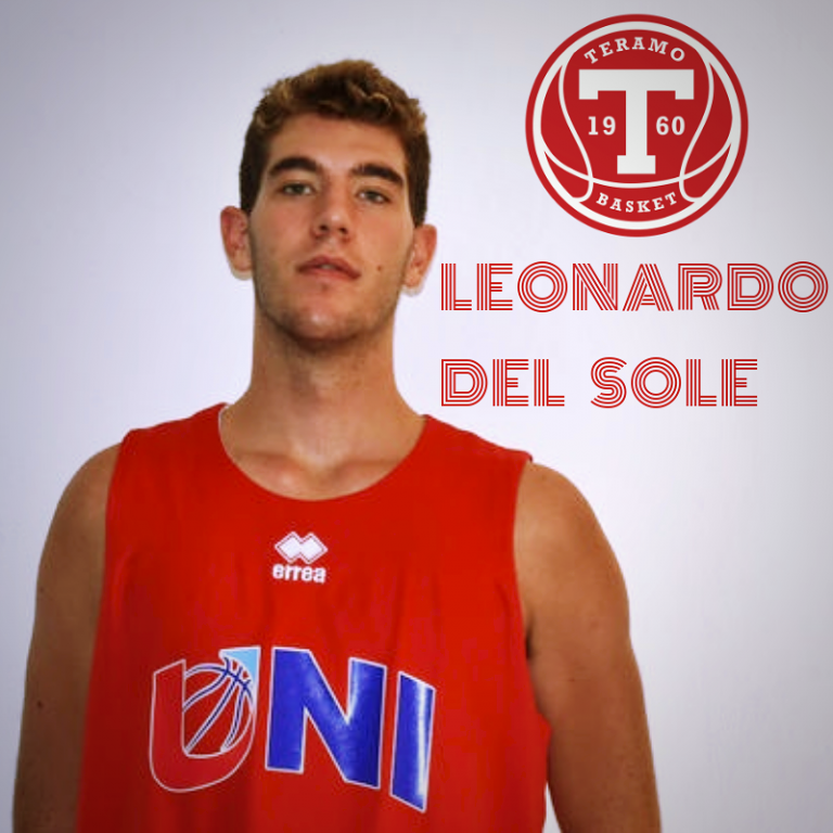 Leonardo Del Sole è il primo acquisto del Teramo Basket