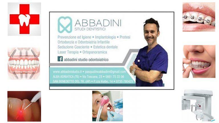 STUDIO ODONTOIATRICO Dott. Abbadini Prevenzione Cura Estetica-dentale ed Urgenza Odontoiatrica | Alba A. (TE) S.Benedetto del T. (AP)
