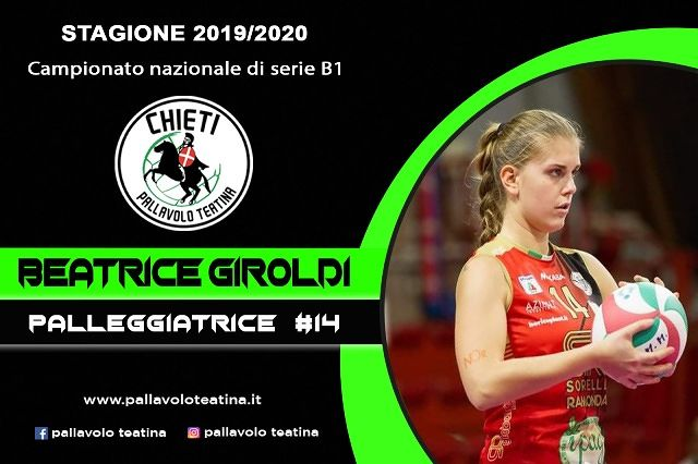 Pallavolo Teatina, finale col botto: Beatrice Giroldi